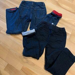 Boys Gymboree Fleece lined pants (2pairs)- size 8